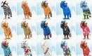 Os ursinhos personalizados por personalidades famosas estarão pelas ruas de Londres até dezembro Foto: Divulgação