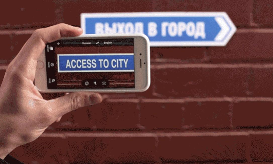Aplicativo traduz placas em sete idiomas, apenas apontando o celular para elas