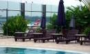 Piscina do Aeroporto Internacional de Cingapura: luxo que custa apenas U$ 10 Foto: Reprodução