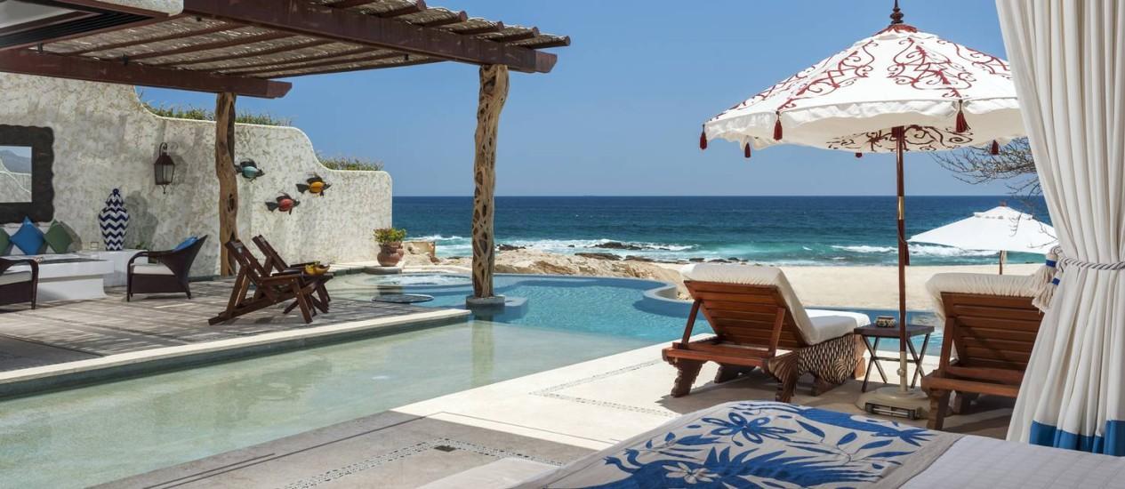 Villa de frente para o mar do Las Ventanas al Paraíso, em Los Cabos, México Foto: Rigoberto Moreno / Divulgação