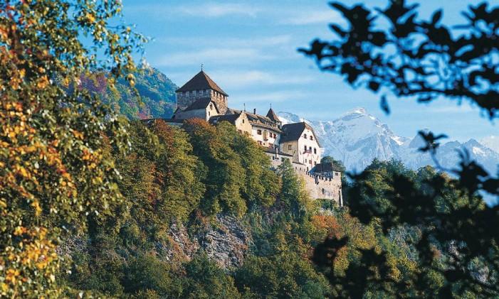 Castelo de Valduz, em Liechtenstein Foto: Divulgação