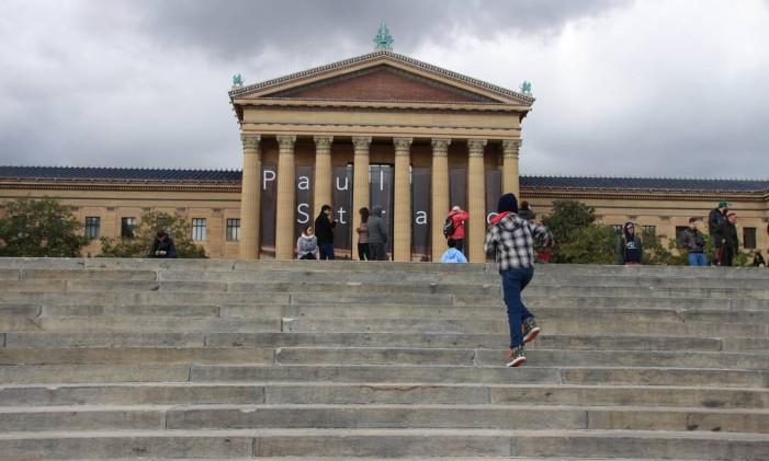 """Escadaria do Museu de Arte da Filadélfia, cenário de """"Creed"""" e de outros filmes com o personagem Rocky Balboa Foto: Eduardo Maia/19/12/2014 / Agência O Globo"""