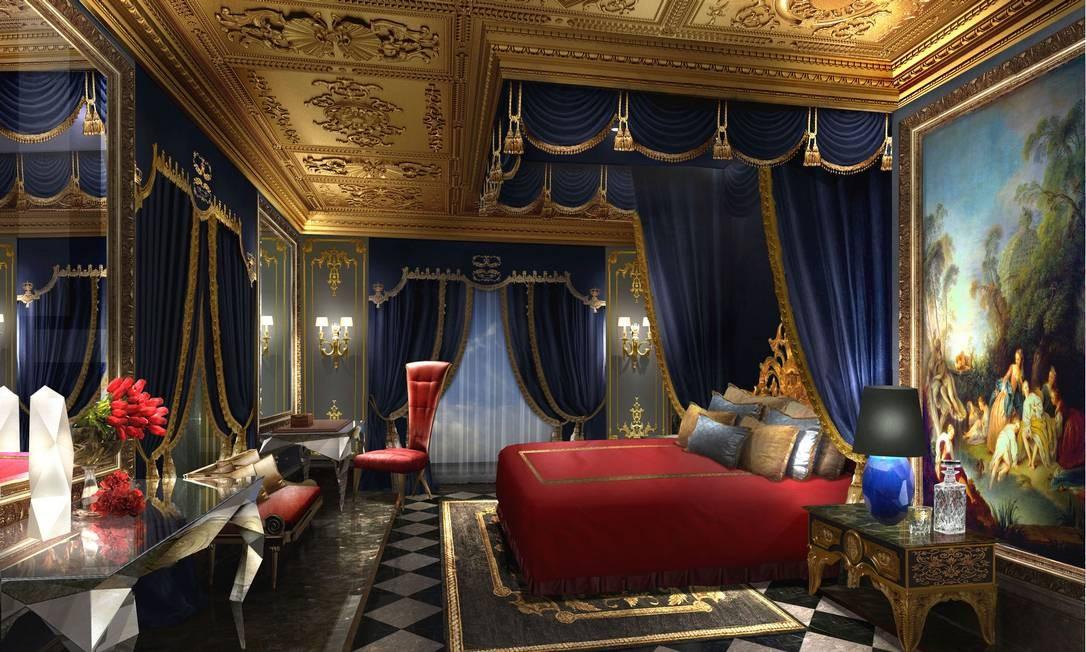 The 13, Macau: Quarto com cama dossel e corinas de veludo Foto: Divulgação