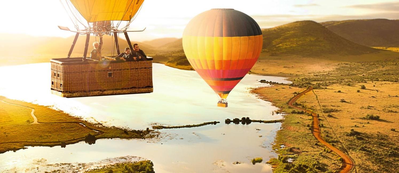 Passeio de balão no Kruger National Park, na África do Sul Foto: Gerard Turnley / South African Tourism / Divulgação