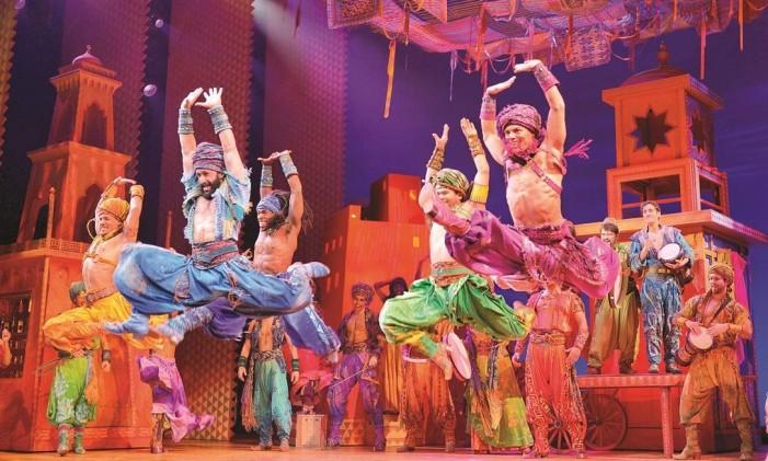 Aladdin, sucesso na Broadway, em NY Foto: The Broadway Collection/Divulgação
