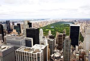 Vista do Top of the Rock, para o Central Park, em Midtown West, Manhattan Foto: Jen Davis / NYC & Company/Divulgação