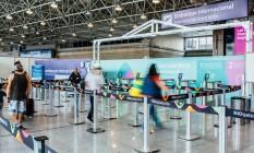 Entrada para o embarque de voos internacionais do RioGaleão, no terminal 2 Foto: Elisa Mendes / Divulgação