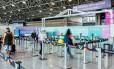 Entrada para o embarque de voos internacionais do RioGaleão, no terminal 2
