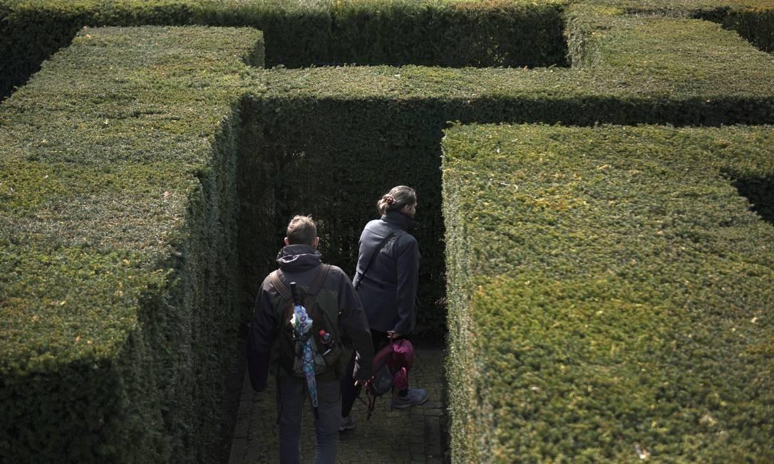 Até um labirinto foi montado para International Garden Exhibition (IGA) 2017 no Gaerten der Welt em Berlin. A exibição, no distrito de Marzahn-Hellersdorf, região nordeste de Berlim se estende até outubro Foto: STEFFI LOOS / AFP