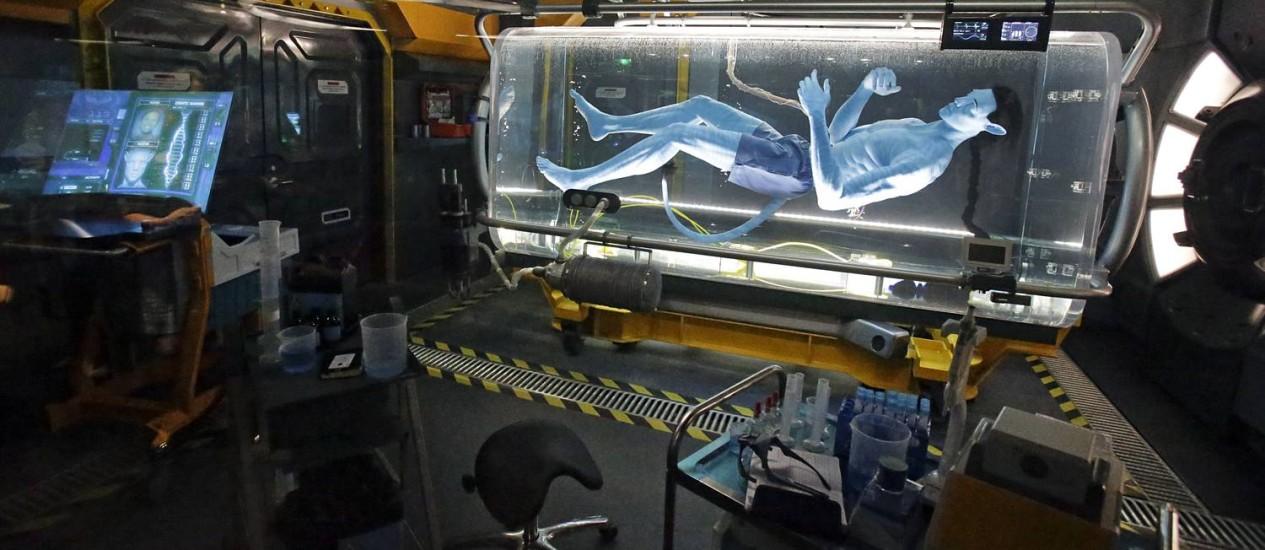 O laboratório científico no universo com criaturas Na'vi é parte da atração Flight of Passage, em Pandora - World of Avatar, no Animal Kingdom, Walt Disney World Resort, Orlando Foto: John Raoux / AP