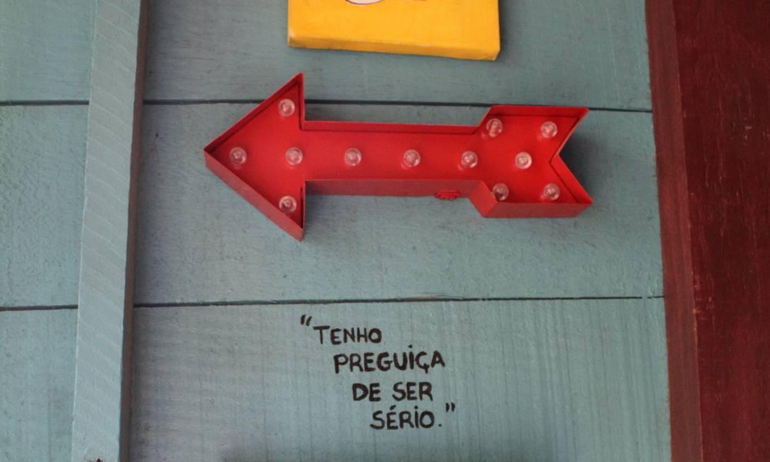 'Tenho preguiça de ser sério'. E você? Foto: Agência O Globo / Ana Beatriz Marin