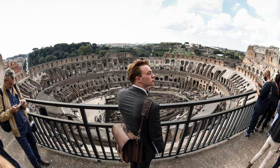 Os andares 4 e 5 do Coliseu, que serão abertos ao público em novembro, oferecem visitas incomparáveis para o anfiteatro Foto: ANDREAS SOLARO / AFP