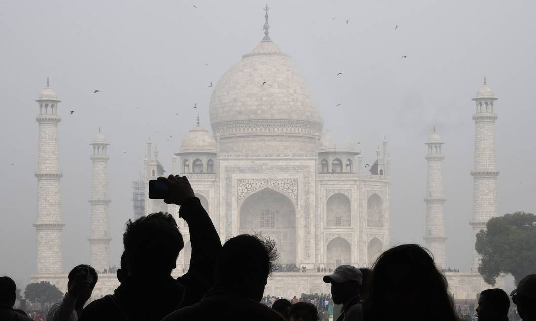 Limite. O Taj Mahal é uma das atrações turísticas que terá horário controlado para evitar a superlotação Foto: DOMINIQUE FAGET / AFP