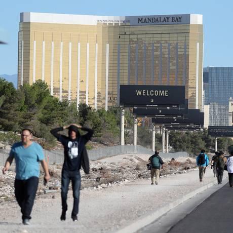 O Mandala Bay, em Las Vegas: andares renumerados para afastar lembrança do massacre Foto: LUCY NICHOLSON/2-10/2017 / REUTERS
