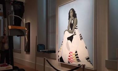 Pop. Quadro de Michelle Obama ocupa novo lugar para facilitar acesso de visitantes Foto: Divulgação