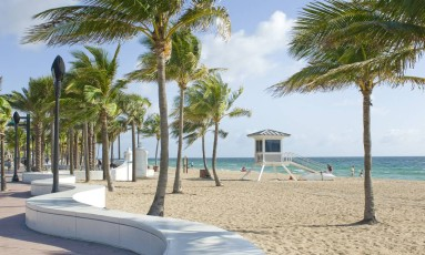 A orla urbanizada de Fort Lauderdale, na Flórida Foto: Doug Castanedo / Greater Fort Lauderdale CVB/Divulgação