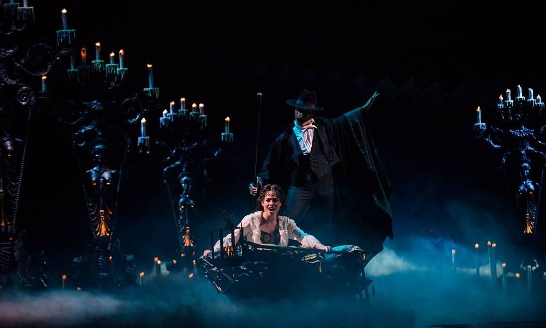 O espetáculo 'O fantasma da ópera' durante temporada no Teatro Renault, em São Paulo Foto: Divulgação/Marcos Mesquita