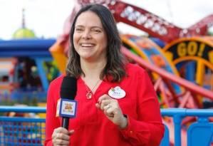 Paula Menna Barreto Hall, gerente de RP Internacional para o Brasil do Walt Disney World, em ação, nos parques da Flórida Foto: Rodrigo Barranco/Divulgação