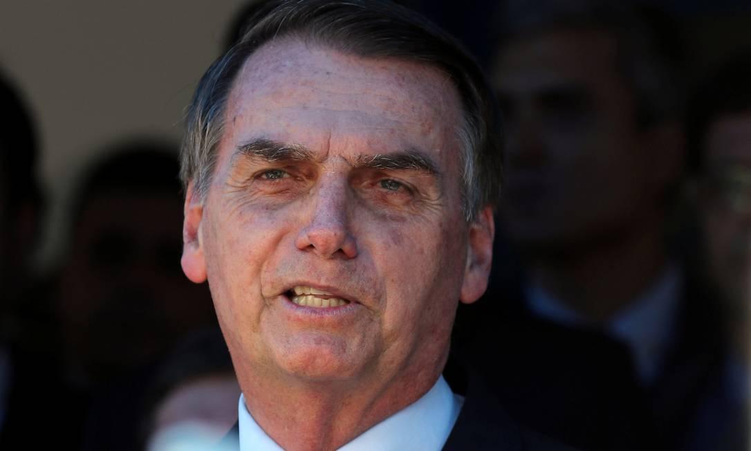 Bolsonaro em evento em Guaratinguetá (SP): presidente eleito falou sobre indígenas ao comentar questões de meio ambiente Foto: PAULO WHITAKER / REUTERS