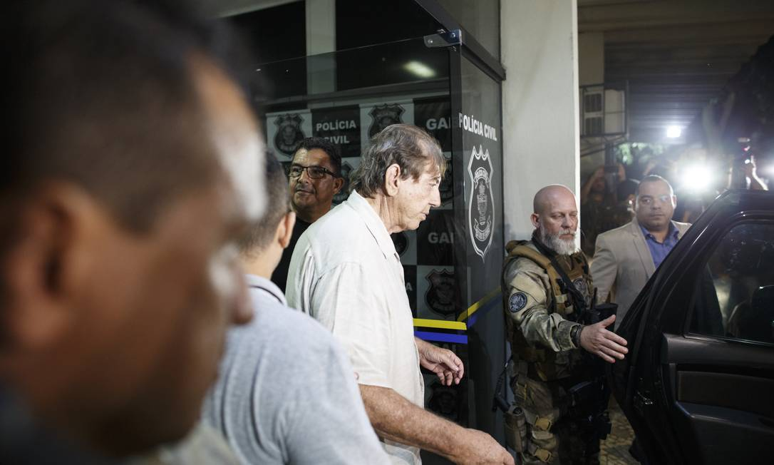 No dia 16 de dezembro, quando se entregou à polícia, João de Deus prestou depoimento em uma delegacia e foi levado ao Complexo Prisional de Aparecida de Goiânia Foto: Daniel Marenco / Agência O Globo/16-16-2018