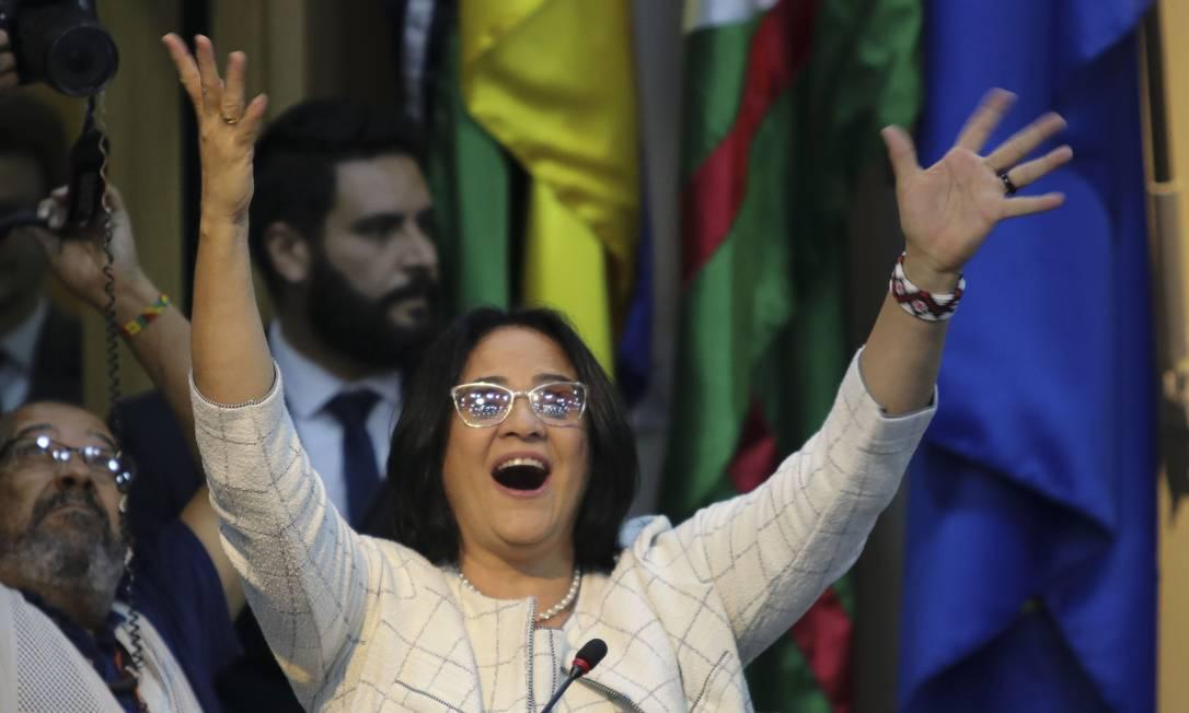 Damares Alves, em sua posse como ministra da Mulher, Família e Direitos Humanos Foto: Wilson Dias / Agência Brasil