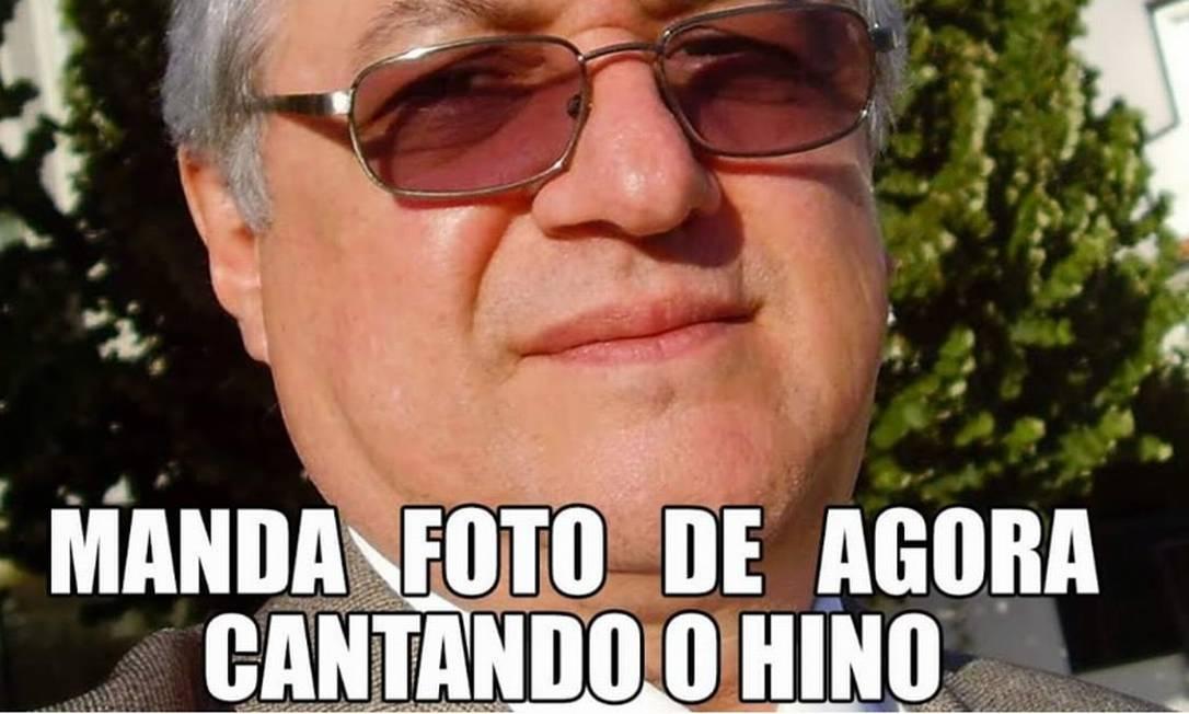 O ministro da Educação, Ricardo Vélez Rodríguez: meme depois de pedido a diretores de escolas para gravar alunos cantando o Hino Nacional Foto: Reprodução da internet