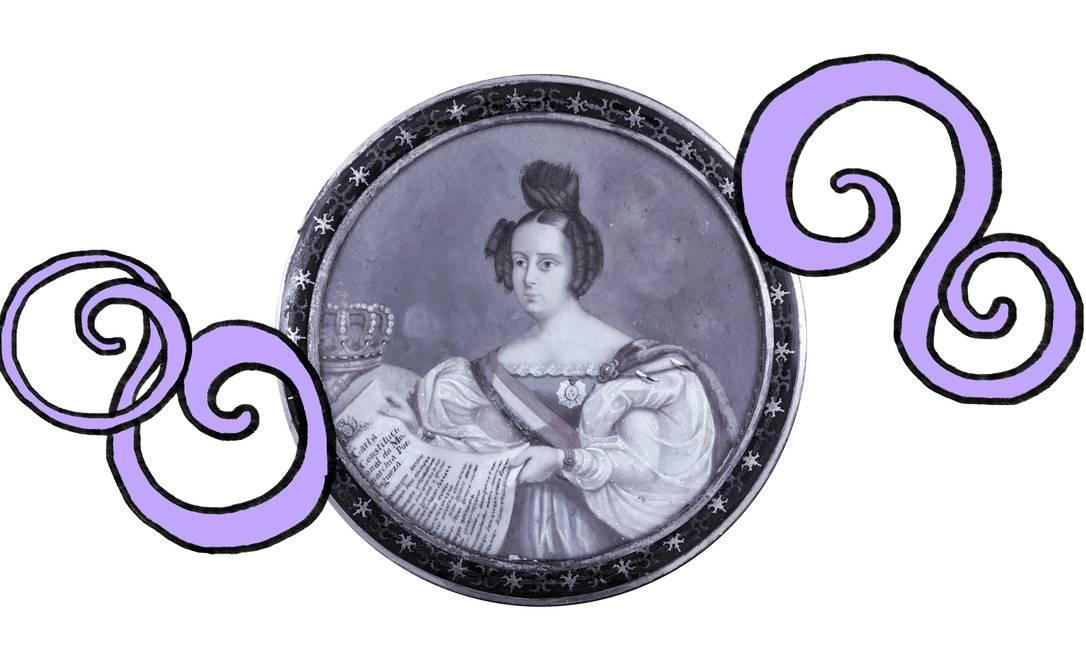 Maria da Glória foi a primeira filha do imperador Dom Pedro I com a imperatriz Leopoldina, nascida no Brasil e rainha de Portugal Foto: O Globo