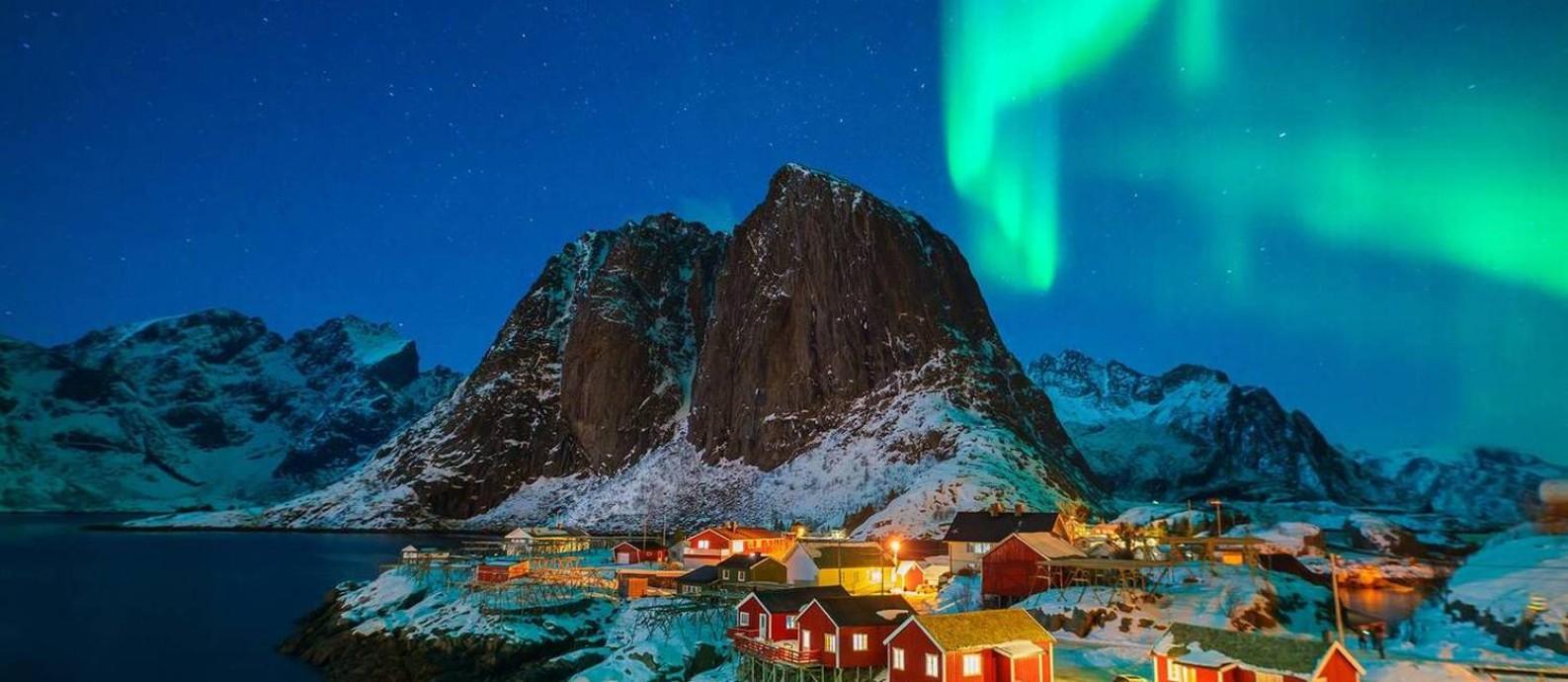 Arquipélago onde aconteceria a extração é considerado maravilha natural, na Noruega Foto: Reprodução