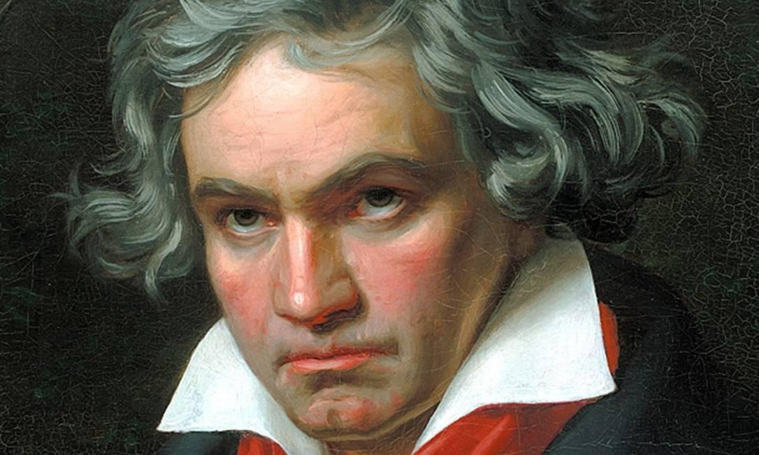 """Ludwig van Beethoven, compositor da """"Quinta Sinfonia""""; estudo inovou ao usar a musicoterapia fora do tratamento de distúrbios emocionais. Foto: reprodução"""