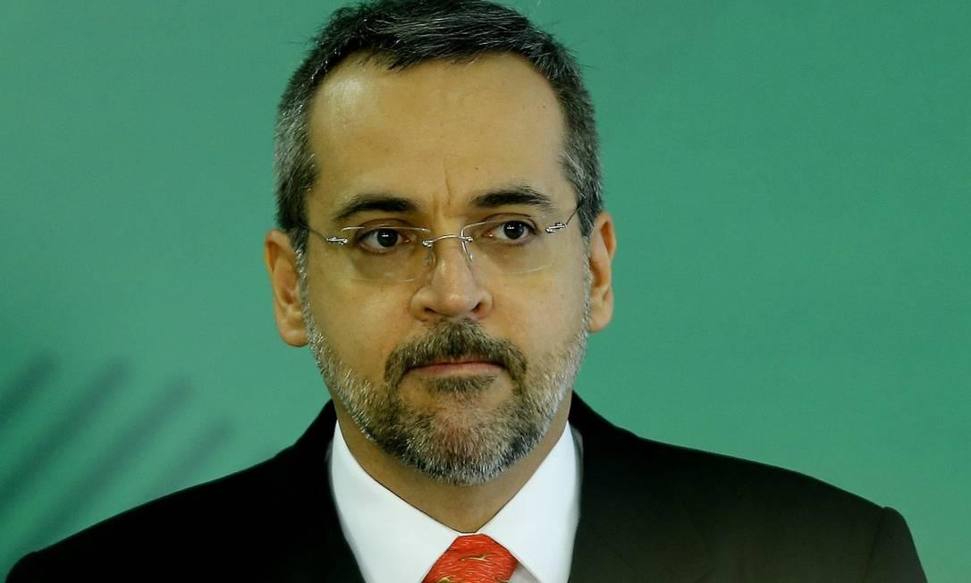 O ministro da Educação, Abraham Weintraub Foto: Jorge William
