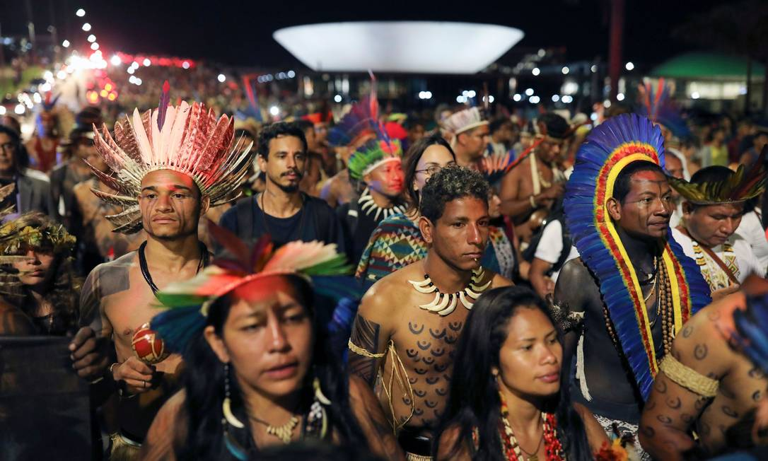 Carta de deputados europeus alerta para aumento da violência contra indígenas no Brasil Foto: SERGIO LIMA / AFP