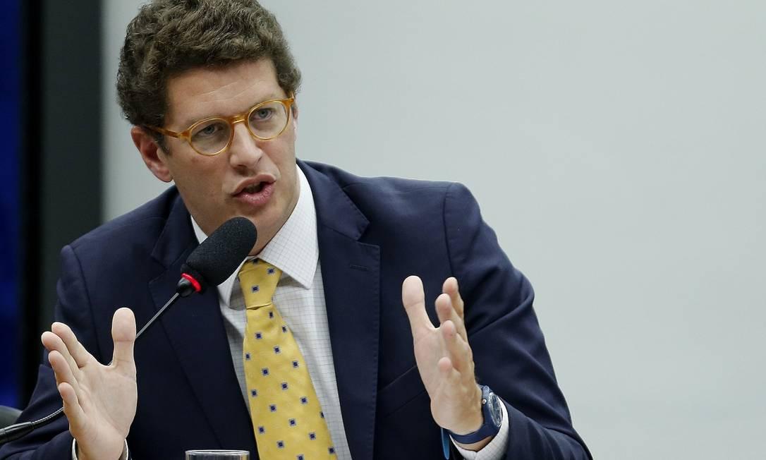 O ministro do Meio Ambiente, Ricardo Salles: corte total de R$ 187,4 milhões Foto: Jorge William/10-04-2019