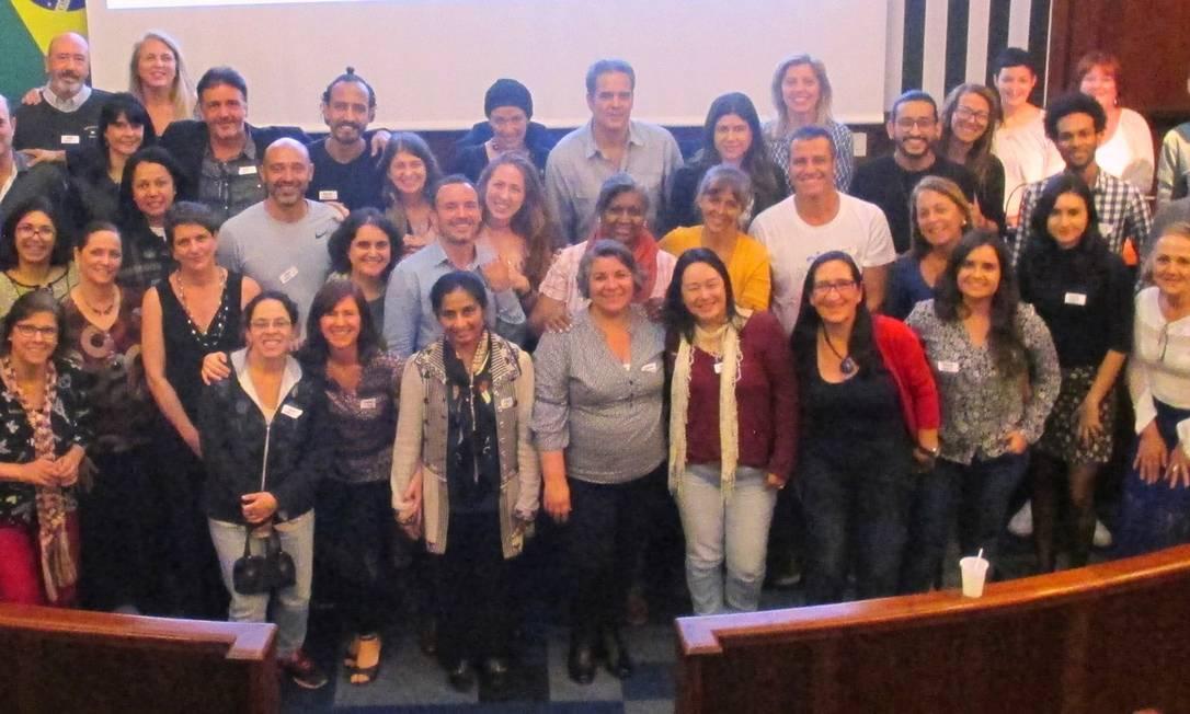 Encontro de 'experienciadores' com psicólogos e psiquiatras, no ano passado Foto: Divulgação