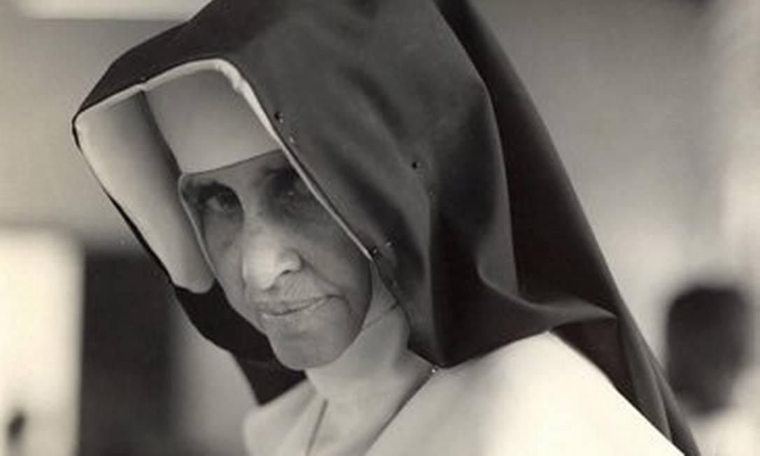 """Irmã Dulce, conhecida como o """"Anjo Bom da Bahia"""", foi canonizada pelo Papa Francisco Foto: Divulgação"""