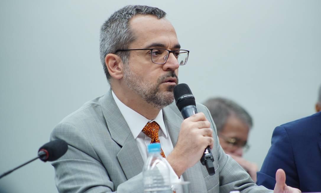 Ministro da Educação, Abraham Weintraub, em audiência pública na Câmara Foto: Will Shutter/ Câmara dos Deputados