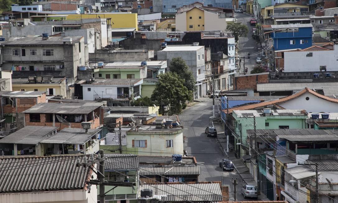 Diferença na pandemia. Vista do Itaquera, Zona Leste de SP. Foto: Edilson Dantas / Agência O Globo