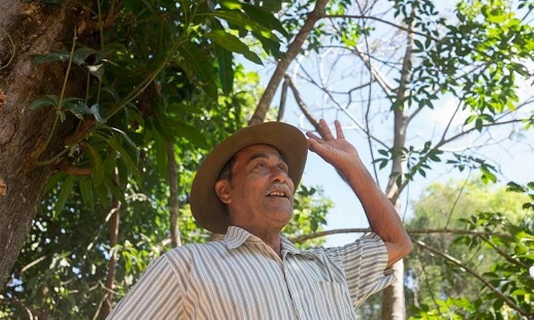 """Braulino Caetano dos Santos resiste na zona rural de Montes Claros enquanto vê vizinhos irem embora por falta de água para plantar: """"O culpado é o homem"""". Foto: João Roberto Ripper/Centro de Agricultura Alternativa do Norte de Minas (CAA-NM)."""