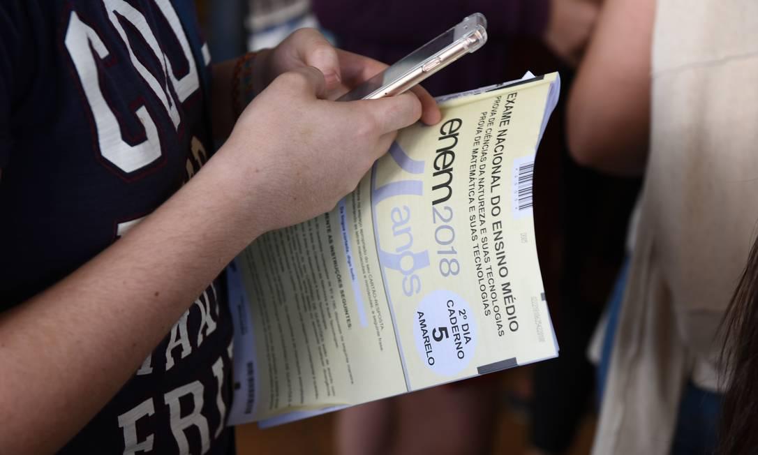 Treinar com provas antigas ou simulados é fundamental para se dar bem na redação, dizem os estudantes Foto: Divulgação / MEC