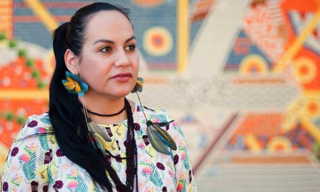 Joziléia Daniza Kaingang foi a primeira estudante indígena de pós-graduação em Antropologia Social da UFSC, onde atualmente é doutoranda. Foto: Pipo Quint / Fotógrafo da Agecom / DGC / UFSC