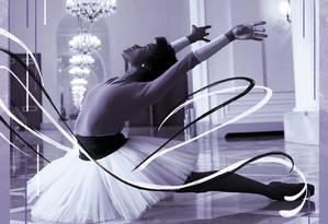 'Não deveria ser preciso ir para outro lugar para ganhar respeito, se você tem técnica e potencial para desenvolver o seu trabalho no seu próprio país', diz a bailarina Ingrid Silva Foto: Marcelo Theobald, com intervenção de Nina Millen