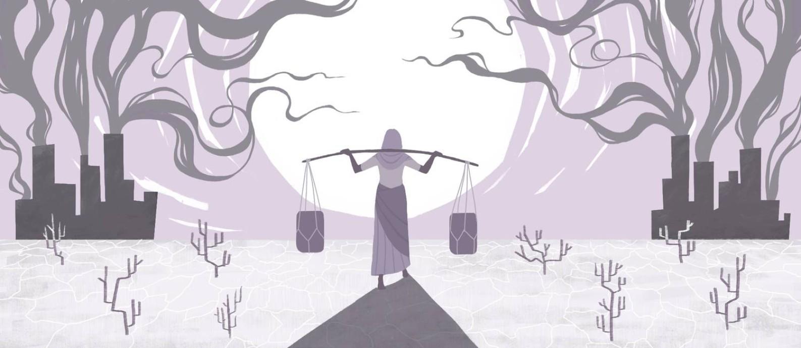 O impacto das mudanças climáticas na vida das mulheres Foto: Ilustração Nina Millen