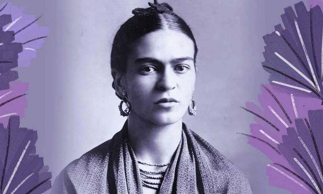 Frida Kahlo Foto: A pintora é um dos ícones feministas das novas gerações / Arte sobre foto de divulgação/Museu Frida Kahlo