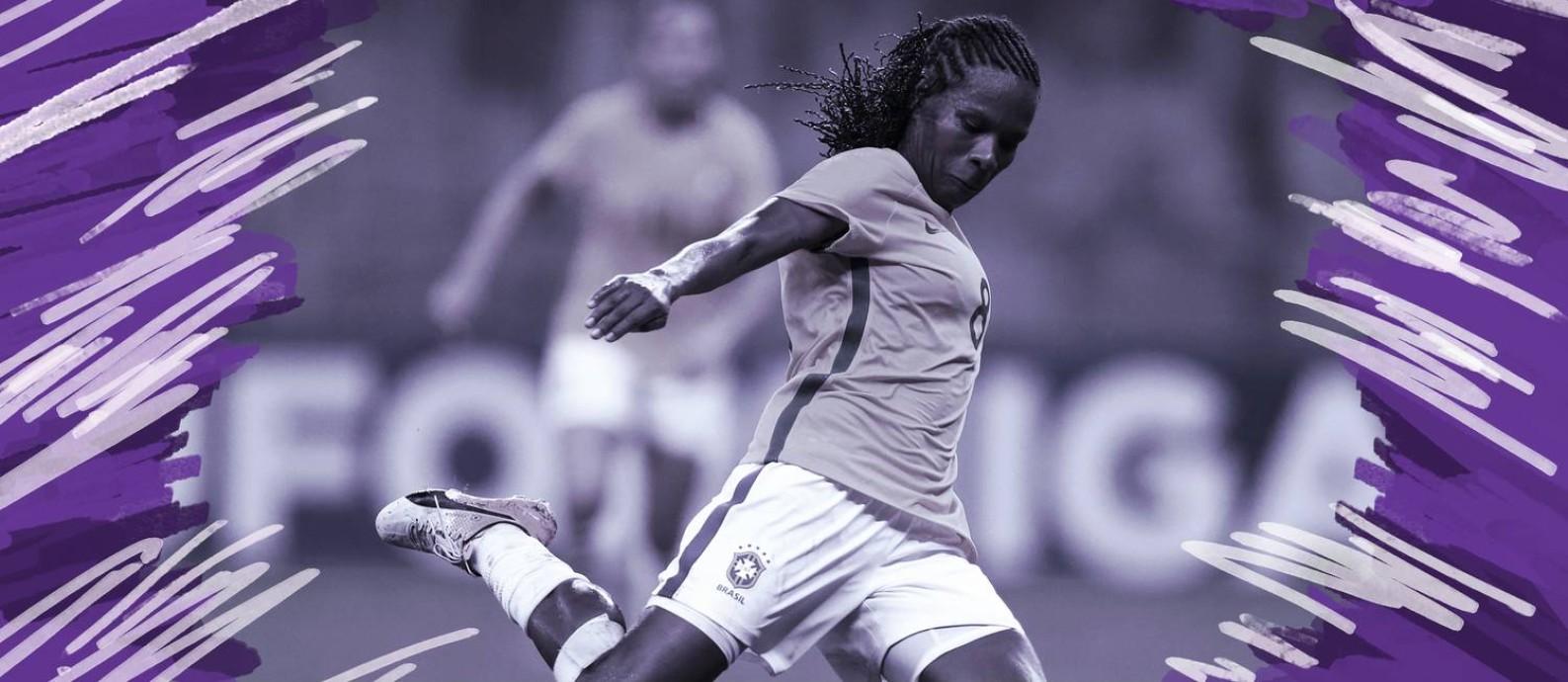 Formiga, jogadora da Seleção Brasileira de Futebol Feminino Foto: O Globo