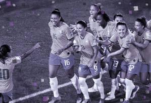 A Seleção Brasileira de Futebol Feminino durante a Copa do Mundo de 2019 Foto: Reuters