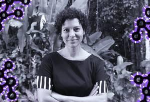 Única mulher no quadro de pesquisadores permanentes do Impa, Carolina Araújo coordena o primeiro Encontro Brasileiro de Mulheres Matemáticas, que acontece neste fim de semana, no Rio de Janeiro Foto: Arte sobre foto de Carla Russo/Divulgação Impa