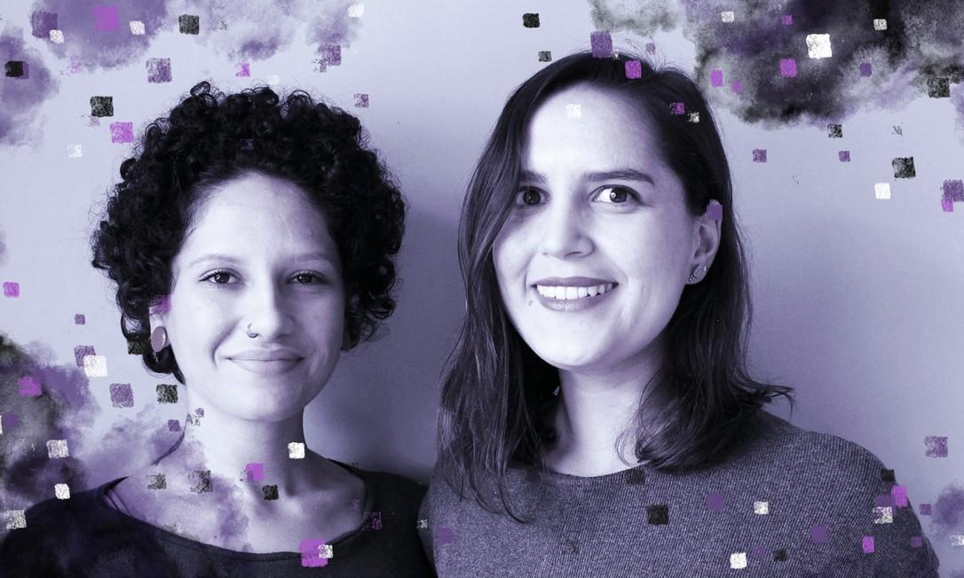 Sarah e Bia são fundadoras e apresentadoras do podcast