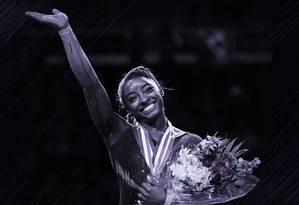 Simone Biles fes história durante o campeonato nacional de Ginástica dos Estados Unidos, em Kansas Foto: Reuters