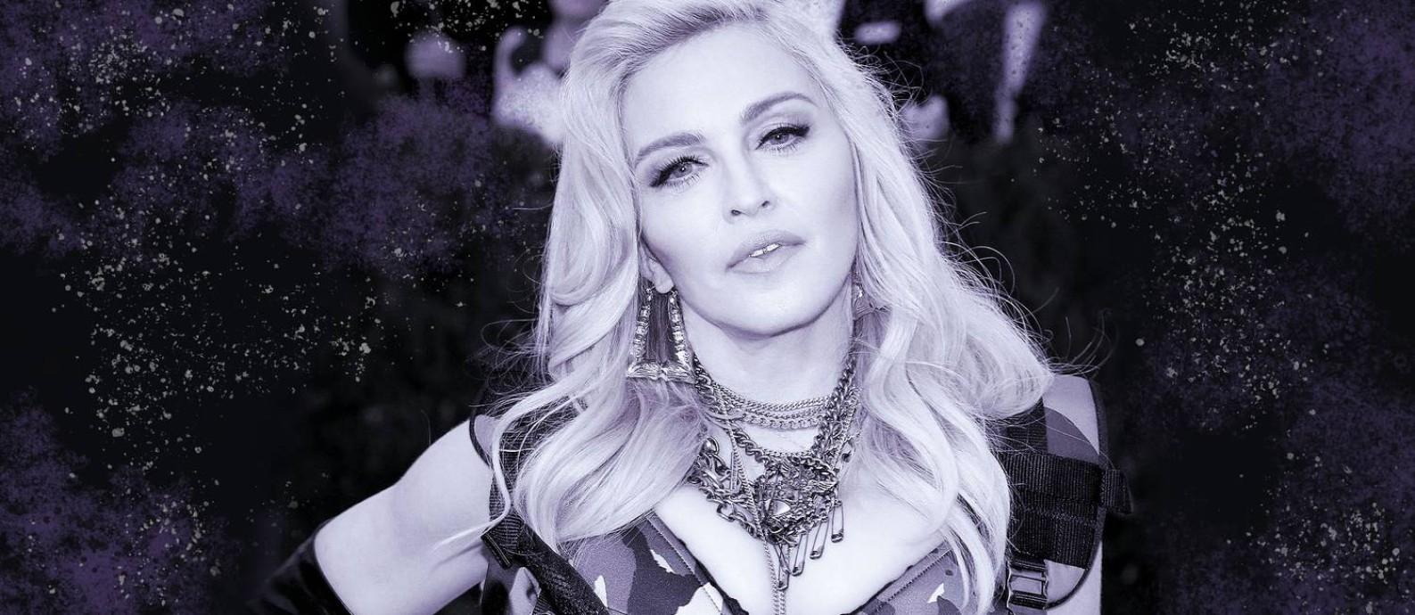 Madonna completa 61 nesta sexta-feira, 16 de agosto Foto: Arte sobre foto de Divulgação