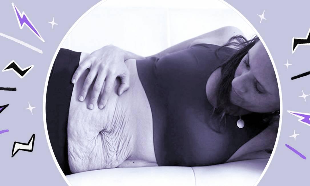 Desiree Fortin, mãe de trigêmeos, compartilha sobre as mudanças que viveu no seu pós-parto Foto: Reprodução do Instagram