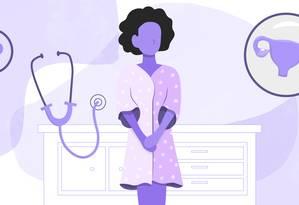 É importante manter o acompanhamento regular de um ginecologista para ficar atento às particularidades da sua saúde Foto: Arte de Ana Luiza Costa